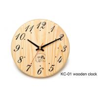 Quality Hemlock Wooden Clock for Sauna Room for sale