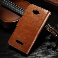Quality Magnetic Alcatel Leather Case For Pop C7 , Side - Open  Pu Leather Wallet Case 62.7g for sale
