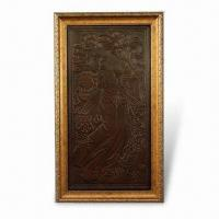 China 3-D Relievo Painting, Made of PU Leather, Measuring 65.5 x 37.5cm, Suitable for Decorating Homes on sale