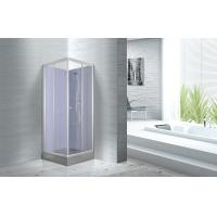 Waterproof White Painted Profiles Glass Shower Cabins , Glass Shower Stall Kits