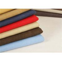 Quality Garment Washed Canvas Fabric / Heavy Cotton Fabric Tear - Resistant for sale