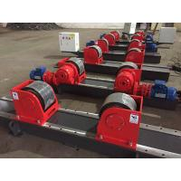 Quality Red 10T Bolt Adjustment Tank Turning Rolls Conventional Welding Rotator With PU Wheel for sale