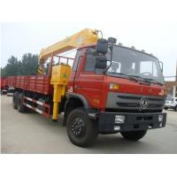 Quality dongfeng 6*4 12ton cargo truck with crane for sales for sale