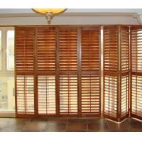 Quality Stained Plantation Exterior Decorative Adjustable Louver Window Shutter Doors for sale