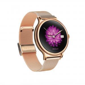 Quality L10 Ladies Smart Watch Waterproof Health round heart rate fitness tracker metal shell spo2 oxygen watch for sale