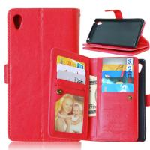 Sony Xperia Z3 Z4 C5 Z5 Premium M4 Aqua Wallet Case Cover Bags Pouch 9 Cards