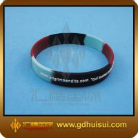 Quality round mixed colors personalized silicone bracelets for sale