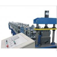 Quality PLC Control Gutter Forming Machine Hydraulic Cutting For Rainwater Round Gutter for sale