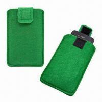 Quality Eco-friendly FELT Pouch with Velcro-protective Slice, for iPhone 4/4S for sale