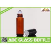 Quality 10ml Amber Glass Roll On Bottle For Perfume Use for sale