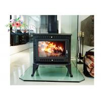Quality Environmental Promotional Free Standing Polished Cast Iron Fireplace 12KW for sale