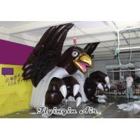 Quality Advertising Black Inflatable Eagle Tunnel for Sports and Events for sale