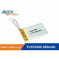 Quality 053048pl 503048 3.7v lithium polymer battery with 600mAh rechargeable li-ion battery for GPS, bluetooth speaker for sale