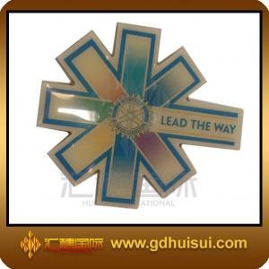 Quality cheap custom brass wheel center cap badge for sale