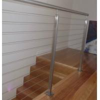 Quality Modern stainless steel wire cable railing balcony / garden concrete stairs railing for sale