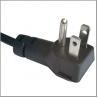 North American power cord with UL Nema 5-15p angled plug for sale