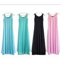 Quality O Neck Teal Pink Womens Summer Maxi Dresses Mesh Veils Strappy Prom Dresses for sale