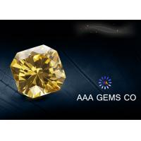 Synthetic Light Yellow Moissanitte Fancy Cutting Shape , Jewelry Moissanite