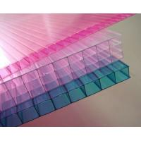 Quality Customized Pink / Blue / Orange Soundproof Polycarbonate Hollow Sheet For Stadiums for sale