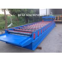 Buy Glazed Corrugated Metal Roof Tile Roll Forming Machine PLC Control System at wholesale prices