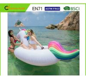 Light Weight Giant Inflatable Unicorn , Rainbow Unicorn Float Silk Screen Printing