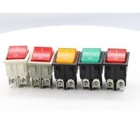 Quality Dpst On Off Neon Lamp KCD Rocker Switch , 120V Double Throw KCD4 Rocker Switch for sale
