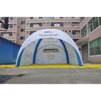 China Durable Inflatable Advertising Tent PVC Fabric Flame Retardant Anti UV Custom Logo Printed for sale