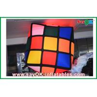 Quality Advertising Hanging Inflatable Colorful Cube Decoration With Led Lighting for sale