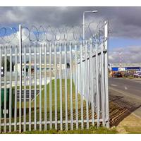 Buy cheap Zinc Plating Fences, Metal Type Palisade Fence / Security morden warehouse wall from wholesalers