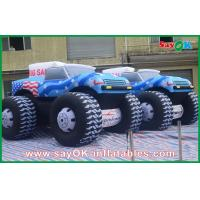 Quality Blue 5M Inflatable Jeep Car 210D Oxford Cloth For Adversting for sale