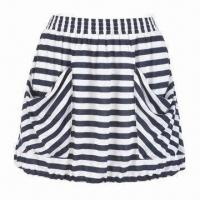 Quality Knit Striped Skirt with Pockets for sale