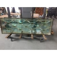 Quality high quantity wooden door decorative  glass of brass caming 80'*20' for American for sale