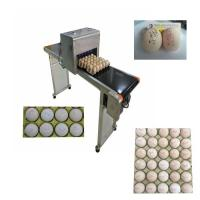 Quality Automatic Egg Code Printing Machine , Small Character Inkjet Coder For Eggs for sale