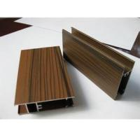 Quality Wooden Grain Color Aluminum Door Profile for Slid Hung Door with Punching GB/T 5237 for sale