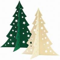 Quality Large Christmas Tree in 5mm Felt, Laser-cut of Size 45 x 38.3cm for sale