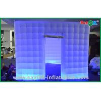 Quality Silver Wedding LED Inflatable Photo Booth With UL Blower L3*W2*H2.3M for sale