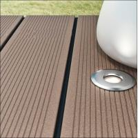 Buy cheap composite decking with led light inside /garden grey decking with light from wholesalers