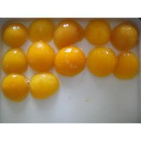 China Light Syrup Canned Fruit , Sweet Canning Fresh Yellow Peach Halves on sale