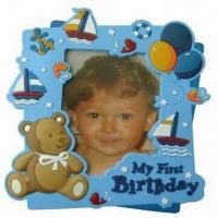 Quality Babies' Photo Frame, Made of Silicone, Eco-friendly, Customized Designs, Sizes and Colors Accepted for sale