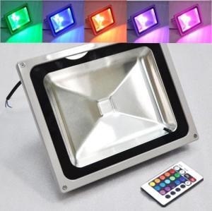China High Brightness RGB LED Flood Light Square Waterproof IP66 50W 50HZ - 60HZ on sale