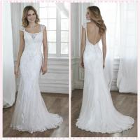 Quality Straps Lace low back wedding dress #5MT031 for sale