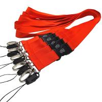 Quality Wholesale polyester neck lanyard no minimum order with J-hook for sale