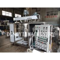 Quality Double Hydraulic Lift Industrial Homogenizer Equipment PLC Control System for sale