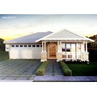Quality Beautiful Prefab Bungalow Homes / Bungalow House Plans With Corrugated Steel Roofing for sale