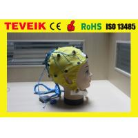 Quality Integrated Neural feedback EEG Cap of Tin electrodes with 20, 32, 64 ,128 leads for sale
