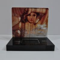 Buy CNC Cutting Perfume Acrylic Counter Display Black With Vivid Sticker at wholesale prices