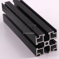 Quality Black Anodized Aluminium Alloy Profile 40x40mm 6000 7000 Series 5.8-5.98m Length for sale