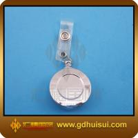 Quality round silver color cute badge reel for sale