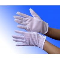 Buy white PVC dotted ESD anti static cleanroom gloves at wholesale prices