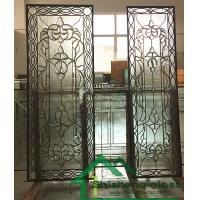 "Buy cheap 2019 new designs of decorative glass for wood doors with patina came 80""*30"" from wholesalers"